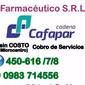 Servicios Farmaceúticos S.R.L de FARMACIAS en CHACOI