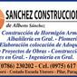Construcciones Sánchez de ALBANILES en TODO EL PAIS