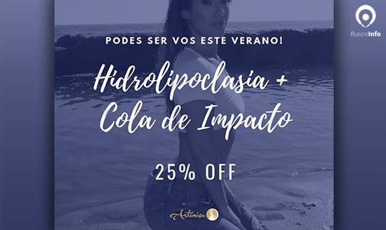 25% OFF en Hidrolipoclasia + Cola de impacto