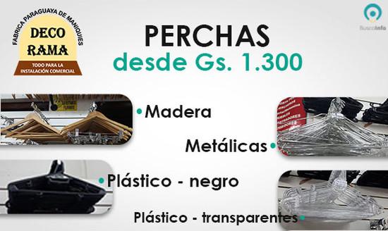 Perchas desde Gs. 1.300 con BuscoInfo Paraguay