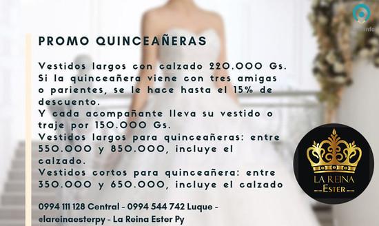 10ce10734 Promo Quinceañeras en La Reina Ester