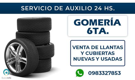 Servicio de Auxilio y Gomería 24 horas.