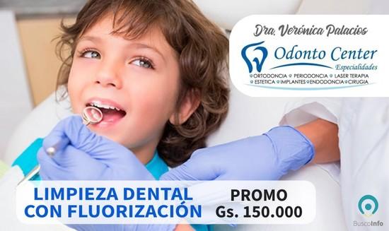 Limpieza dental con fluorización