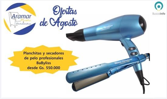 Promo de Planchitas y secadores de pelos profesionales Babyliss