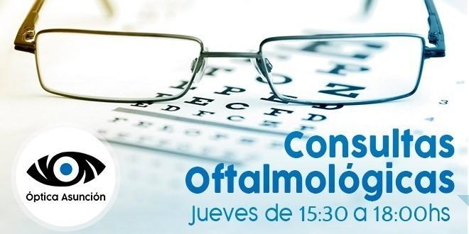 Consulta Oftalmológica en Óptica Asunción